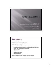 Lai_COML203 Torts - Negligence 2