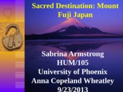 hum 105 sacred destination