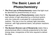 PHOTOCHEMISTRY,  FLUORESCENCE AND PHOSPHORESCENCE