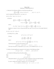 Homework F Solutions on Differential Equations