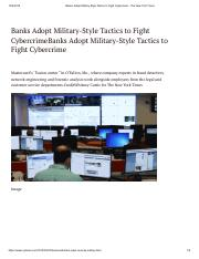 Banks Adopt Military-Style Tactics to Fight Cybercrime - The New York Times.pdf
