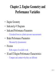 Chapter 2 Engine Geometry and Performance Variables