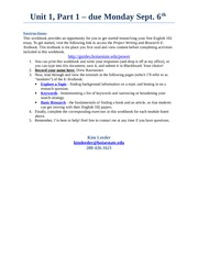 PoWeR Workbook Unit 1 Part 1