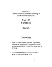 Comp Prob Solving in Net Domain topic 6 notes