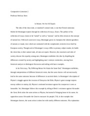 Natural Equality Essay