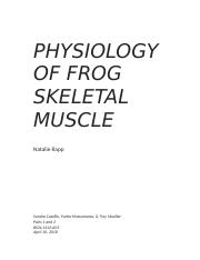 frog gastrocnemius muscle lab report