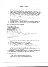 Wheat Grading worksheet