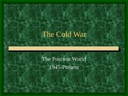 The Cold War New