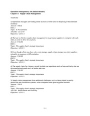 Operations Management, 10e HeizerRender - tif_ch01tif_ch11