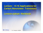 Study Guide on Application of Carbon Nanotubes