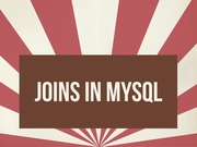 Lecture 6 - Joins in MySQL