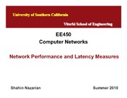 EE450-U1-PerformanceMeasures_Lecture-Nazarian-Summer10