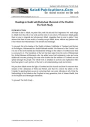 Kashf ush-Shubuhaat - The Removal of the Doubts (The Sixth Study)