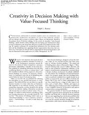 Creativity in Decision Making with Value-Focused Thinking.pdf