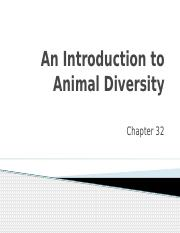 Unit 9 - An Introduction to Animal Diversity.pptx