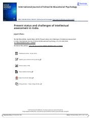 Present status and challenges of intellectual assessment in India.pdf