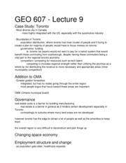 GEO 607 - Lecture 9