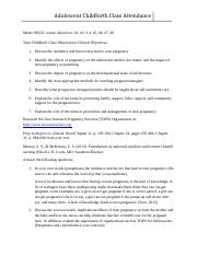 Childbirth Class Alternative Learning  Worksheet-2.docx