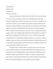 Rachel Goodman's Fourth Paper