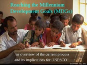 Reaching the Millennium+Development+Goals