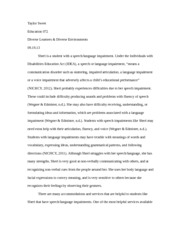 speech disability paper
