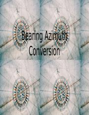 FALL 2015 Bearing Azimuth