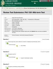 Review Test Submission: Phil 1301-Mid-term Test – 2017 ...