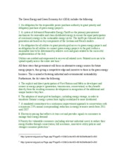 The Green Energy and Green Economy Act