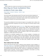 How Big are Fiscal Multipliers