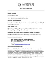 BUSN650 Syllabus Winter I 2014 (1)