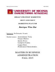 MBA667_Barrique assignment final