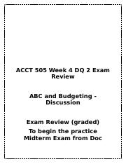 acct 505 case study 1 Homeworksolutions123 acct 505 week 1 case study (devry) acct 505 week 1-7 all discussion questions (devry) acct 505 week 2 quiz job order and process costing.