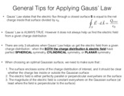 Gauss' Law Rules