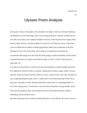 ulysses alfred lord tennyson analysis