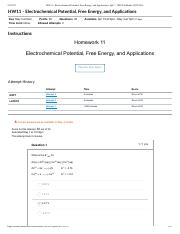 HW11 - Electrochemical Potential, Free ...tions- Sp17 - CH302 LaBrake (50355-60)