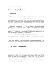 Ch.8 - Complex Numbers