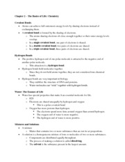 09-20-11 Biology Chapter Two Notes