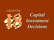 ch18 Capital Investment Decisions