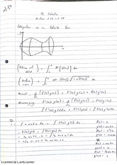 Integration of an Infinite Sum Lecture Notes