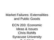ECN 203 class 09 externalities and public goods