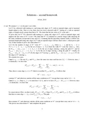 MATH 340 Fall 2010 Assignment 2 Solutions