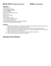 5-Southwestern Recipes