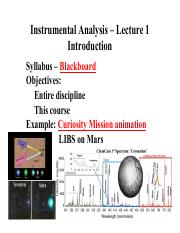 Lecture 1 - Intro to Spectrometric Methods