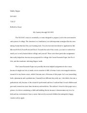 electives sls the college experience fgc page  3 pages reflective essay docx