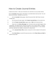 How to Create Journal Entries (1)