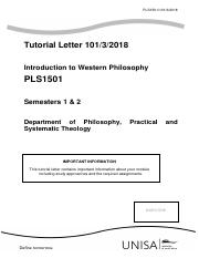 202_2018_1_b pdf - PLS 1501 Tutorial Letter Introduction to
