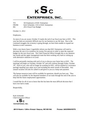 Downsizing Letter