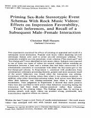 Effects on impression favorability, trait inferences, and recall of subsequent male-female interacti
