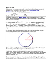 Proof of Trig Limits