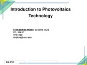 02 EE 474 Introduction to PV